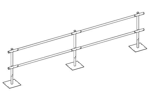 Pro-Guard Freestanding Guardrail